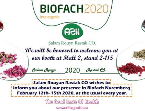 حضور شرکت سلام رویان رستاک در بزرگترین نمایشگاه مواد غذایی ارگانیک Biofach 2020
