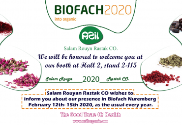 Salam Rouyan Rastak CO. presence in Biofach 2020 -Germany
