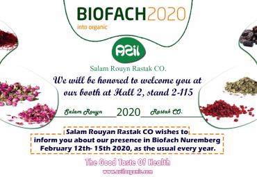 Presence Salam Rouyan Rastak CO. in Biofach 2020 -Germany