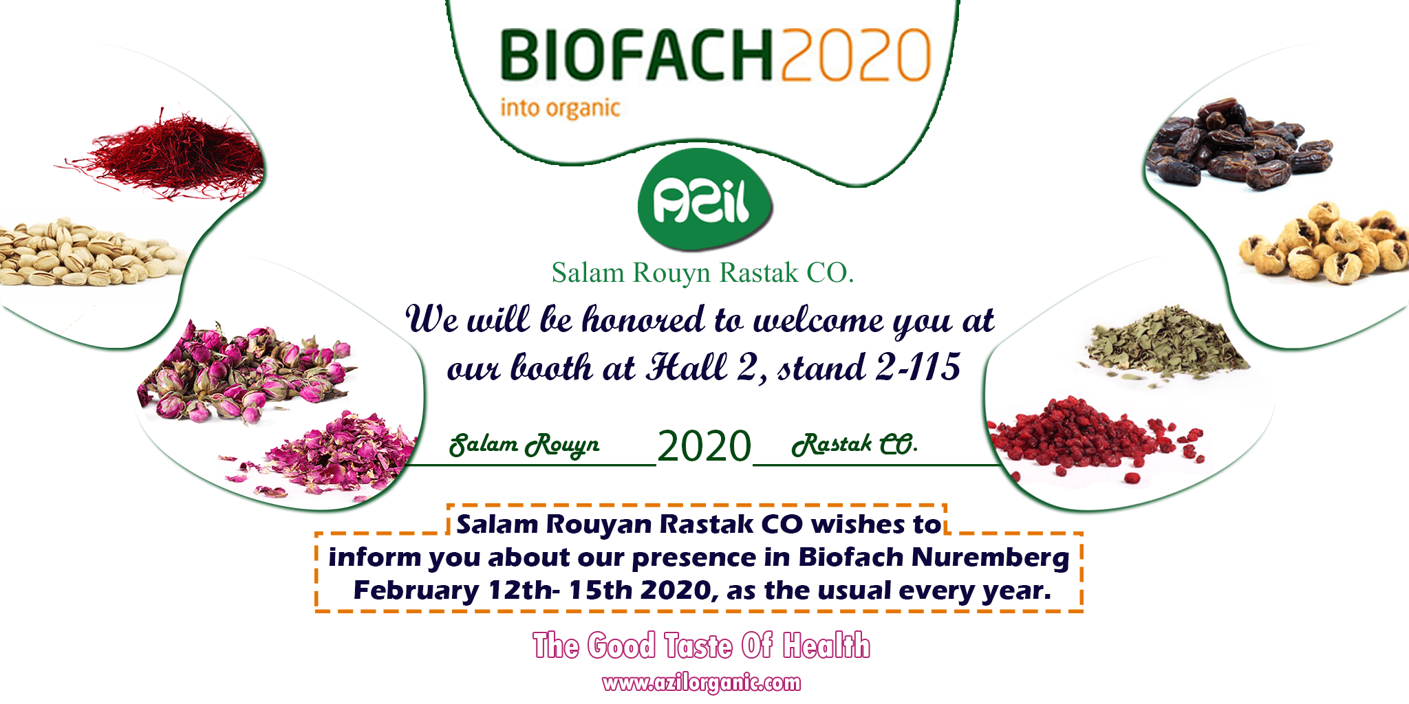 Presence Salam Rouyan Rastak CO. in Biofach 2020 -Germany