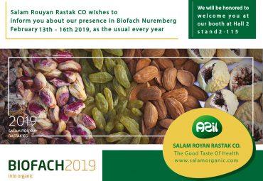 Salam Rouyan Rastak CO. presence in Biofach 2019 – Nuremberg