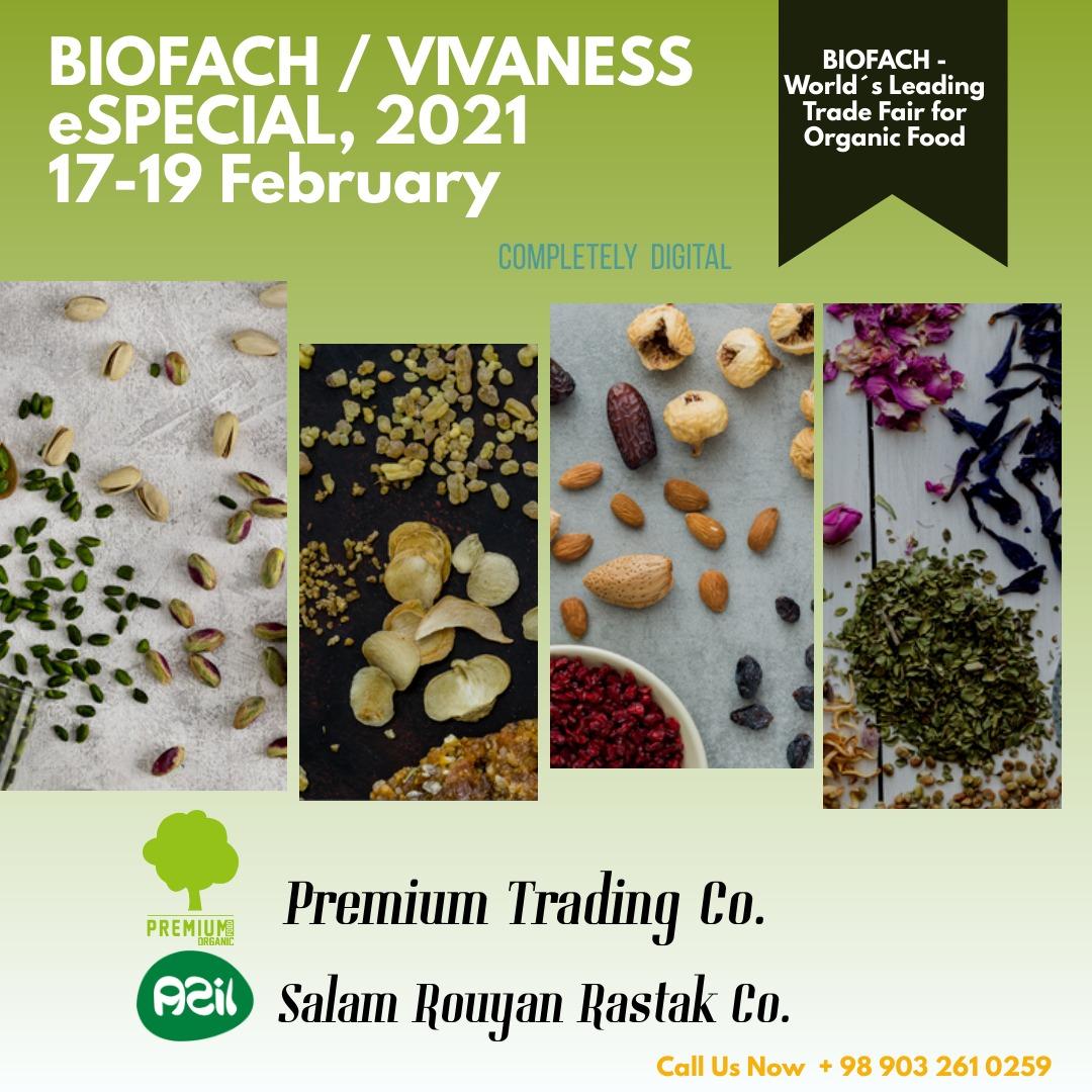 BIOFACH2021 - Salam Rouyan Rastak CO. presence in Biofach / VIVANESS 2021 -COMPELETLY DIGITAL